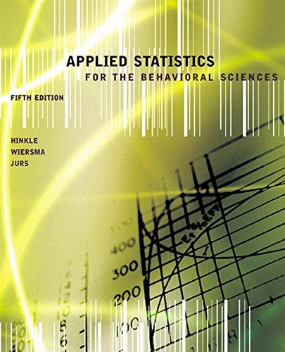 9780618124053: Applied Statistics for the Behavioral Sciences