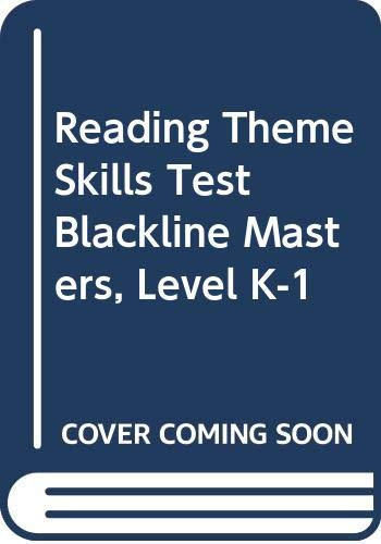 9780618124862: Houghton Mifflin Reading, Theme Skills Tests, Backline Masters, Kindergarten (HM READING 2001 2003)