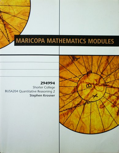 9780618125845: Maricopa Mathematics Modules