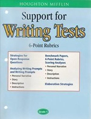 Houghton Mifflin English: Support For Writing Test: MIFFLIN, HOUGHTON