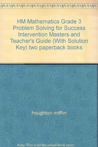 HM Mathematics Grade 3 Problem Solving for Success Intervention ...