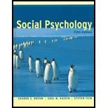 9780618129645: Social Psychology, Fifth Edition