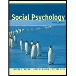 9780618129645: Social Psychology