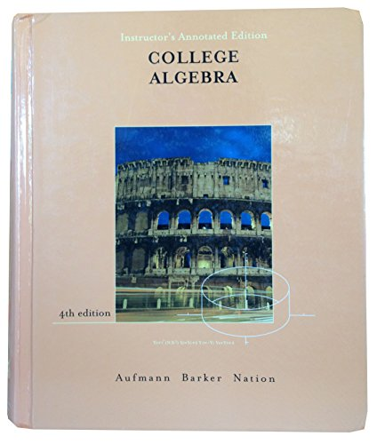 9780618130757: College algebra: Instructor's annotated edition
