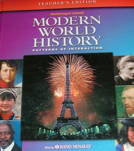 9780618131785: McDougal Littell World History: Patterns of Interaction: Teacher Edition Grades 9-12 Modern World History 2003