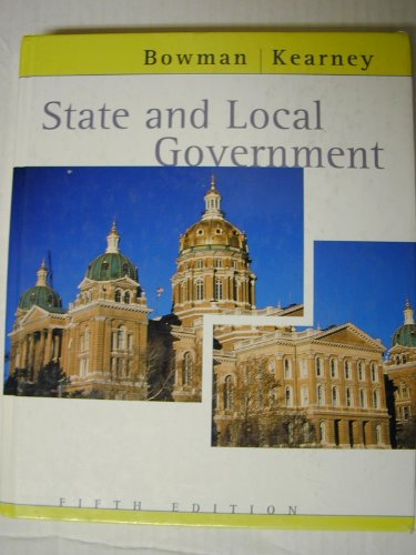 9780618132072: State And Local Government Fifth Edition