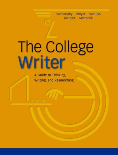 9780618133963: The College Writer