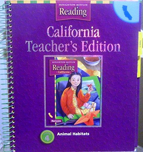 9780618138005: California: Animal Habitats, Teacher Edition, Grade 3
