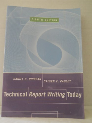 9780618140169: Technical Report Writing Today
