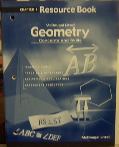 Chapter 1 Resource Book (Geometry: Concepts and: Larson, Boswell, Stiff