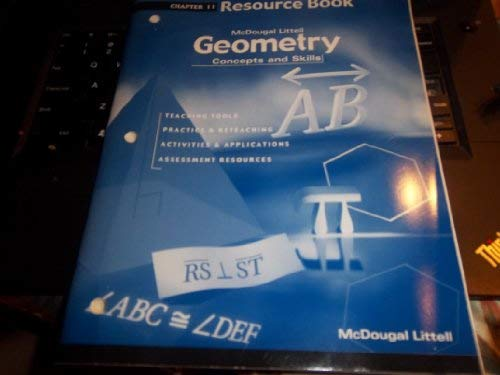 9780618140398: Geometry: Concepts and Skills: Resource Book Chapter 11