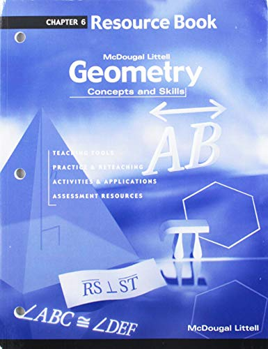 9780618140442: Geometry: Concepts and Skills: Resource Book Chapter 6