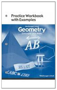 9780618140480: Geometry: Concepts and Skills: Practice Workbook with Examples