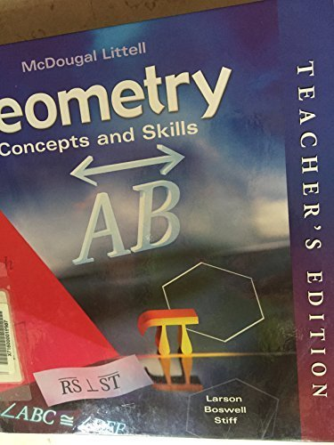 9780618140510: Geometry Concepts and Skills, Teacher Edition