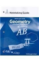 9780618140534: Geometry: Concepts and Skills: Worked Out Solution Key