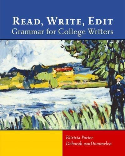 9780618144952: Read, Write, Edit: Grammar for College Writers