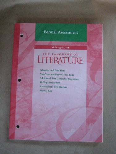 9780618146703: McDougal Littell Language of Literature: Formal Assessment Grade 7
