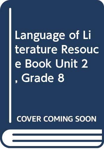 9780618146901: McDougal Littell Language of Literature: Resouce Book Unit 2 Grade 8