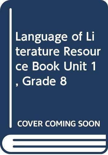 9780618147144: McDougal Littell Language of Literature: Resource Book Unit 1 Grade 8