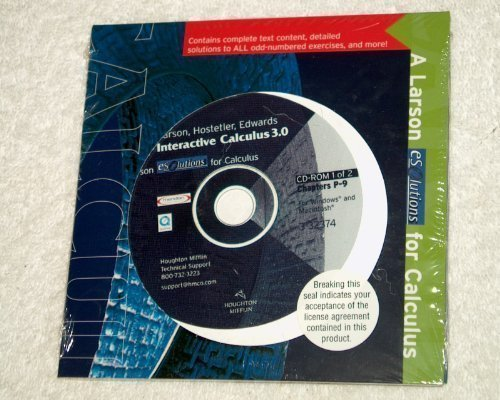 Interactive Calculus 3.0 Cd-rom: Used with ...Larson-Calculus I with Precalculus: A One-Year Course (0618149384) by Ron Larson; Robert P. Hostetler; Bruce H. Edwards