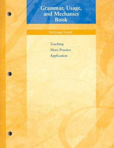 9780618153688: Grammar, Usage, and Mechanics Book: Teaching More Practice Application, Grade 6