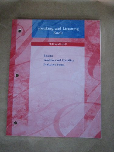 9780618153725: The Language of Literature - Speaking and Listening Book - Grade 7