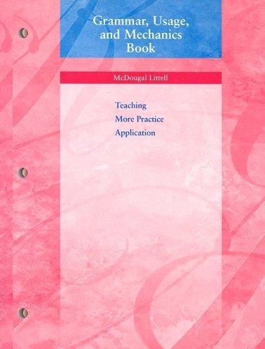 9780618153763: Language Network: Grammar, Usage, and Mechanics Book Grade 7
