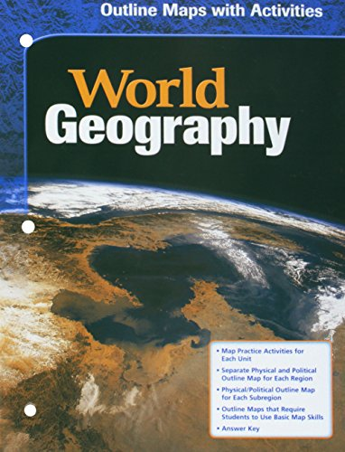 9780618154814: McDougal Littell World Geography: Outline Maps with Activities Grades 9-12