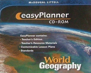 9780618155095: McDougal Littell World Geography: EasyPlanner CD-ROM Grades 9-12