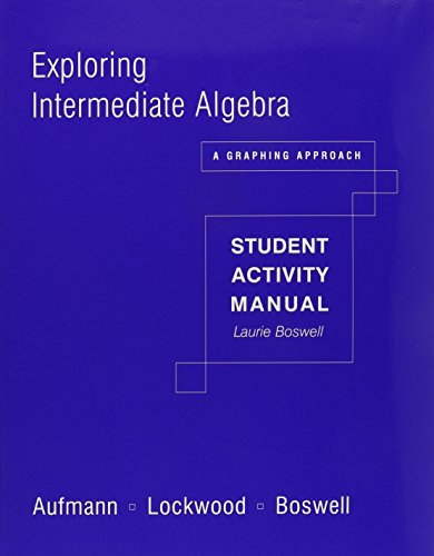 Student Activity Manual for Aufmann/Lockwood/Boswell's Exploring Intermediate: Richard N. Aufmann