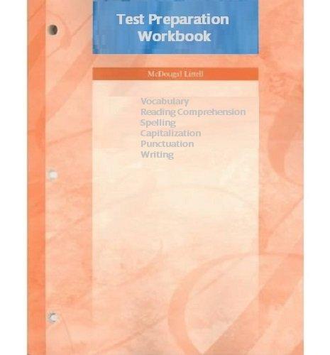 Test Preparation (McDougal Littell Vocabulary, Reading Comprehension,: McDougal Littell