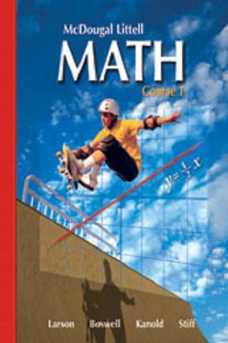 9780618158386: McDougal Littell Middle School Math, Course 1: Test and Practice Generator CD-ROM