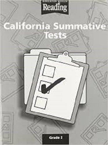 9780618160136: Houghton Mifflin Reading California: Summative Tests Blackline Masters Grade 2