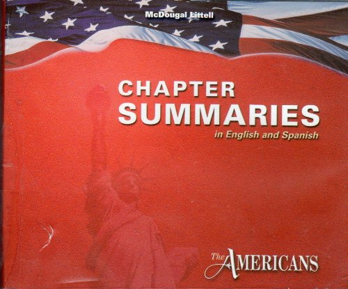 9780618160334: McDougal Littell The Americans: Chapter Summaries on Audio CD (English/Spanish) Grades 9-12
