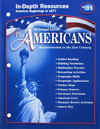 9780618162628: The Americans: Reconstruction to the 21st Century: Teacher Resource Package