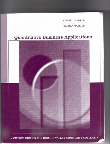 9780618167265: Quantitative Business Applications (Custom Edition for Hudson Valley Community College, eighth edition)