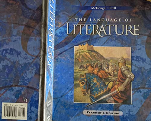 9780618170395: McDougal Littell Language of Literature: Teachers Edition Grade 10 2002