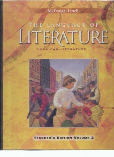 9780618170555: The Language of Literature (The Language of Literature: American Literature Teacher's edition, Volume 2)