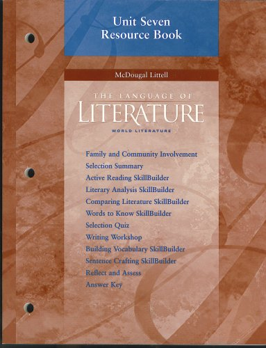 9780618173266: The Language of Literature: World Literature, Unit 7 Resource Book, 9780618173266, 0618173269, 2006