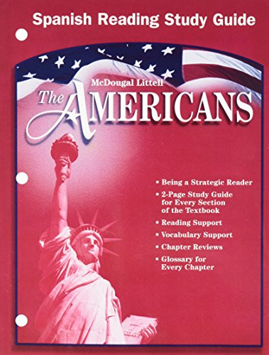 9780618175666: The Americans: Reading Study Guide (Spanish) (Spanish Edition)