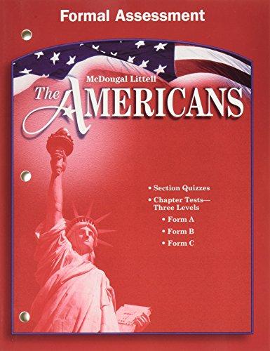 9780618175789: McDougal Littell The Americans: Formal Assessment Grades 9-12