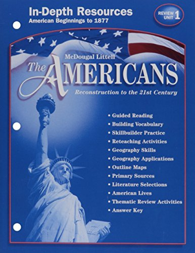9780618176069: In-depth Resources, Unit 1 (The Americans Reconstruction to the 21st Century, Review)
