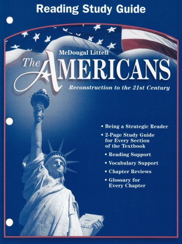 9780618176151: The Americans: Reconstruction to the 21st Century (Reading Study Guide)