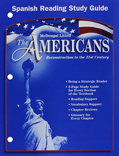 9780618176168: The Americans: Reconstruction to the 21st Century: Reading Study Guide (Spanish) (Spanish Edition)