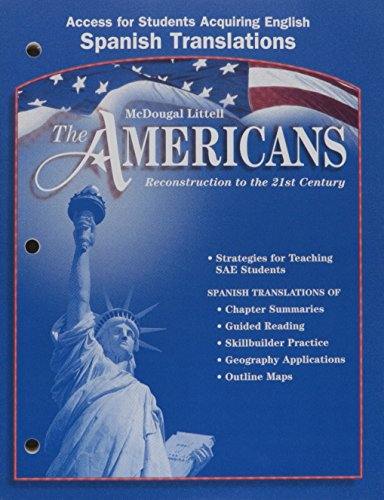 9780618176175: McDougal Littell The Americans: Access for Students Acquiring English: Spanish Translations Grades 9-12 (Spanish Edition)