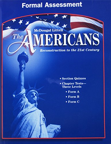 9780618176212: The Americans Reconstruction to the 21st Century Formal Assessment Grades 9-12: