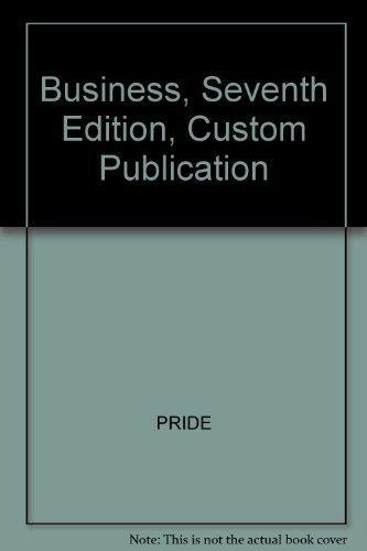 9780618177387: Business, Seventh Edition, Custom Publication