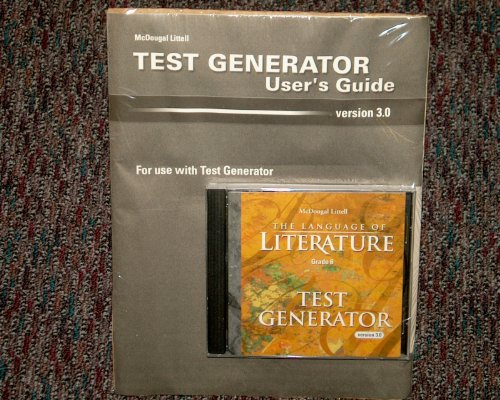 McDougal Littell Language of Literature: Test Generator CD-ROM Kit with User s Guide Grade 6: staff