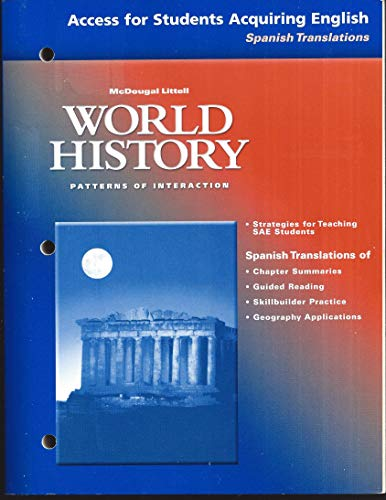 9780618182831: Access for Students Acquiring English - Spanish Translations (World History - Patterns of Interaction)
