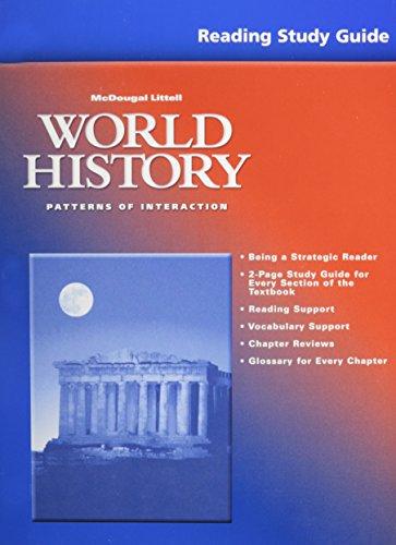 9780618182893: World History-Patterns of Interaction, Grades 9-12 Reading Study Guide: McDougal Littell World History: Patterns of Interaction (Poi Whist)